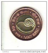 ANDAMAN & NICOBAR 20 Rupiah 2011 , Uncirculated , Bimetallic - Monnaies