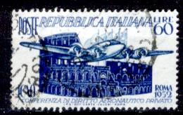 """Italia-F01628 - 1952: """"I.C.A.O."""", Sassone N. 697 (o) Used - Privo Di Difetti Occulti. - 6. 1946-.. Repubblica"""