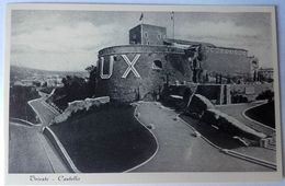 """Riproduzione - TRIESTE – CASTELLO – Francobolli Prestampati """"refezione Scolastica 50 Cent.""""-  VIAGGIATA 1938 - Trieste"""