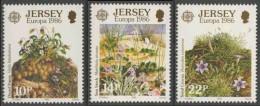 Jersey 1986 Mi 378 /0 YT 372 /4 ** Viola Kitaibeliana, Matthiola Sinuata, Romulea Columnae - Natuur