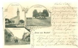 67 CPA Strasbourg Neudorf Eglise Rue Du Polygone Gruss  1905 - Strasbourg