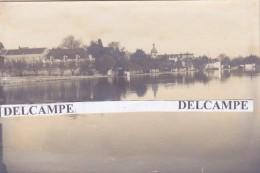 ANCENIS 1910 - Photo Originale Des Quais à L'époque Des Inondations ( Loire Atlantique ) - Places