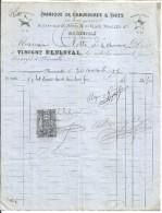 FACTURE VINCENT DESLOYAL  FABRIQUE DE CHAUSSURES A TIGES à MARSEILLE 1879 - France