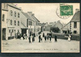 CPA - CARANTEC - La Rue De La Mairie, Très Animé - Carantec