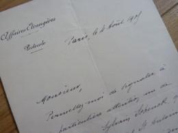 Armand MOLLARD (1862-1930) Ambassadeur LUXEMBOURG. Fils Auguste - Autographe - Autografi