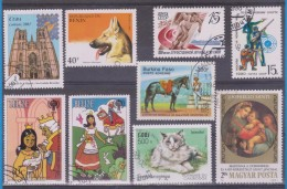 LOT OF USED STAMPS DEPORTES SPORTS ANIMALES  ANIMALS  PAISES  COUNTRIES VARIOS  VARIOUS   S-1614 - Vrac (max 999 Timbres)