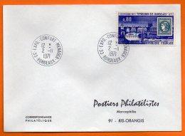 MAURY N° 1659  EMISSION DE BORDEAUX    Lettre Entière N° AA 289 - Poststempel (Briefe)