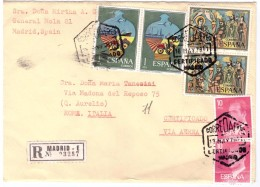 STORIA POSTALE - SPAGNA - ESPANA - ANNO 1978 - AIR MAIL - RACCOMANDATA N° 03257 - MADRID - DA DONA MIRTHA - PER MARIA - 1875-1882 Regno: Alfonso XII