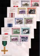Poland Pologne, Polish Army In WWII: September 1939, Monte Cassino, Partisans, Berlin 1945, Tank Offensive, 5 X FDC - Seconda Guerra Mondiale