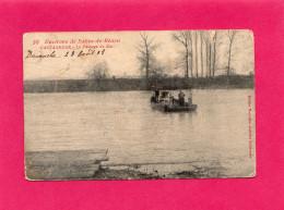 Environs De Salies De Béarn, CASTAGNEDE, Le Passage Du Bac, Animée, 1908, (Nlles Galeries Salisiennes), 64 Pyrénées-Atla - Salies De Bearn