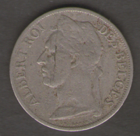 CONGO BELGE 1 FRANC 1925 - 1910-1934: Alberto I