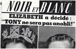 Noir Et Blanc 829 ELIZABETH TONY - BRIGITTE BARDOT - PICASSO - A MAGNANI - M BRANDO - MICHEL SIMON 20 Janvier 1961 - 1950 - Heute