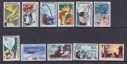 AAT 1966 Definitives 11v ** Mnh (32130) - Australian Antarctic Territory (AAT)