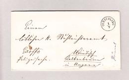 Österreich NÖ PERSCHLING 1.9.1868 Brief Ohne Inhalt Nach Ungarn - 1850-1918 Imperium