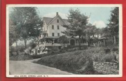 U S A  - NEW YORK - DELL HOUSE, KENOZA LAKE - 1921 - 2 Scans - New York City