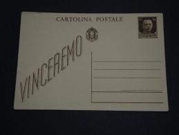 ITALIE - Entier Postal Non Voyagé - A Voir - L 2354 - 1900-44 Vittorio Emanuele III