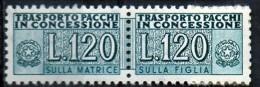 PIA - Specializzazione  :1970 :  PACCHI CONCESSIONE : £ 120 - (SAS 14/I - CAR 25/I) - Varietà E Curiosità