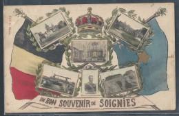 CPA BELGIQUE - Soignies, Un Bon Souvenir - Soignies