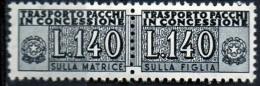 PIA - Specializzazione  :1970 :  PACCHI CONCESSIONE : £ 140 - (SAS 15/I - CAR 26) - 6. 1946-.. Repubblica