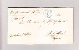 Österreich ST PÖLLAU 23.4 (1870) 2-Kreis Blau Brief Nach Ungarn - 1850-1918 Imperium
