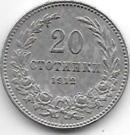 *Bulgaria 20 Stotinka 1912   Km 20     Vf+ - Bulgarie
