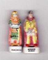 2 Feves Les Figures De L'histoire Charlemagne , Alexandre Le Grand - Personnages
