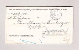 Österreich Wien 23.9.1900 Portofreie Dienstsache Nach Jennesdorf Ungarn - Briefe U. Dokumente