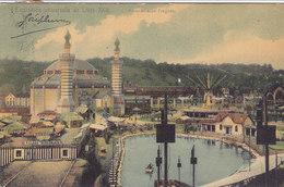 Liège - Expo 1905 - Panorama De Fragnée (colorisée, Village Sénégalais) - Liege