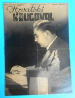 WW2 - CROATIA ( NDH ) POGLAVNIK DR. ANTE PAVELIC  Cover Of Orig. Old Magazine Hrvatski Krugovall (1942) Ustase Kroatien - Books