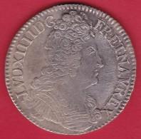France Ecu Louis XIIII 1709 H - La Rochelle - TTB - 1643-1715 Louis XIV Le Grand