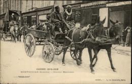 CHEVAUX - ATTELAGE CHEVAUX - MONTDIDIER - Guerre 14-18 - Convoi Marocain - Pferde