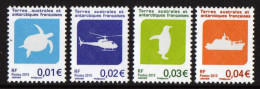 T.A.A.F. // F.S.A.T. 2015 - Emblèmes Des TAAF, Tortue, Héllicopter, Manchot Et Bateau  - 4 Val Neufs // Mnh Rares - Terre Australi E Antartiche Francesi (TAAF)