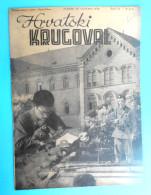WW2 - CROATIA ( NDH ) - USTASE & POGLAVNIK CROATIAN UNIVERSITY STUDENTS Orig. Vintage Magazine Hrvatski Krugovall 1942. - Magazines & Papers