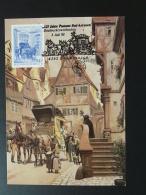 083-18 Diligence Mail Coach Cheval Horse Postmuseum Karte Carte Maximum Card Bed Kreuzen 1988 - Maximumkarten (MC)