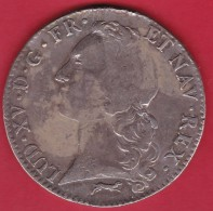 France Ecu Louis XV 1761 R - Nîmes - TB - 1715-1774 Louis XV Le Bien-Aimé