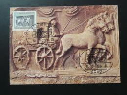 084-17 Diligence Romaine Roman Coach Cheval Horse Postmuseum Karte Carte Maximum Card Neuss 1984 - Kutschen