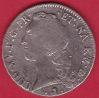 France Ecu Louis XV 1767 Vache - Pau - TB - 1715-1774 Louis XV Le Bien-Aimé