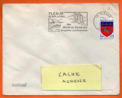 15 PLEAUX  DES MONTS DU CANTAL....   5 / 12 / 1967 Lettre Entière N° BB 234 - Sellados Mecánicos (Publicitario)