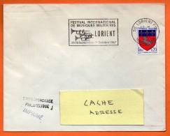 56 LORIENT  MUSIQUE MILITAIRE   4 / 9 / 1967 Lettre Entière N° BB 236 - Mechanische Stempels (reclame)
