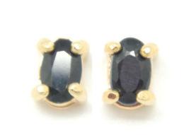 Orecchini In Argento 925 Sterling Lamina In Oro Con Zaffiri - Earrings