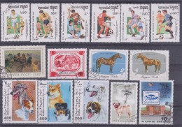 LOT OF USED STAMPS DEPORTES SPORTS ANIMALES  ANIMALS  PAISES  COUNTRIES VARIOS  VARIOUS   S-1635 - Sellos