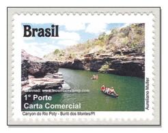 Brazil 2011 Piauí Cânion Do Rio Poty – Buriti Dos Montes River Boat Canyon MNH ** - Nuevos