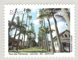 Brazil 2011 Santa Catarina Rua Das Palmeiras – Joinville Palm Trees Alee  MNH ** - Brasil