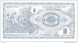 Macedonia - Pick 1 - 10 Denar 1992 - Unc - Macedonia