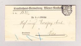 Österreich WIEN WI NEUSTADT 21.9.1901 Portofreier Brief Nach Szombathely Vas Ungarn - 1850-1918 Imperium