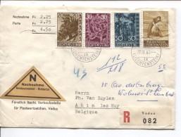 Lietchtenstein Registered Cover Remboursement  Vaduz 19/9/1960 V.Ahin Lez Huy PR3480 - Lettres & Documents