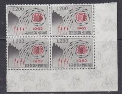 Europa Cept 1962 San Marino 1v Bl Of 4  **  Mnh  (32136B) - 1962