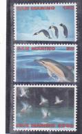 #  185 PINGWIN, DUCKS, DOLPHIN ,1998, MNH**, THREE STAMPS, SAN MARINO