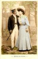 [DC3234] CPA - COPPIA - QUANDON S'AIME ..... - Viaggiata 1905 - Old Postcard - Coppie