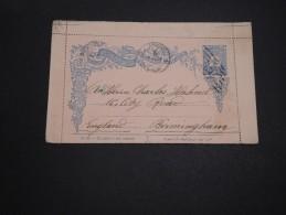 TURQUIE - Entier Postal Pour La Grande Bretagne - A Voir - L 2395 - 1858-1921 Empire Ottoman